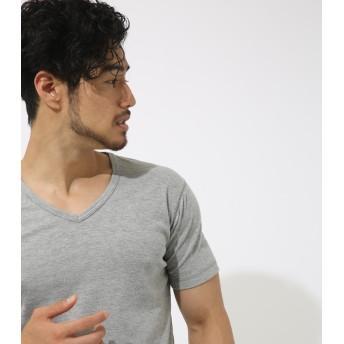 カットソー - AZUL BY MOUSSY ハニカムシャドーボーダーVネック半袖T