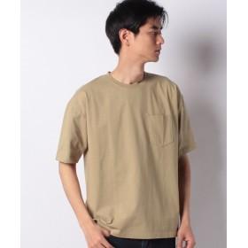 マルカワ 無地 ヘビーウェイト ポケット ナノテック 半袖Tシャツ メンズ ベージュ XL 【MARUKAWA】
