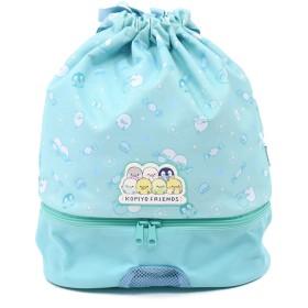 【オンワード】 Mother garden(マザーガーデン) こぴよフレンズ プールバッグ水泳バッグ 巾着タイプ プール 水泳 水色 0 キッズ