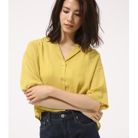 シャツ - AZUL BY MOUSSY ドットオープンカラークロップドシャツ