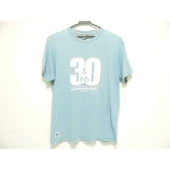 【中古】 チャムス CHUMS 半袖Tシャツ サイズL メンズ ライトブルー アイボリー レッド