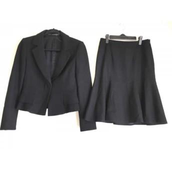 【中古】 マテリア MATERIA スカートスーツ サイズ36 S レディース 美品 黒