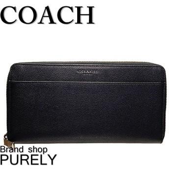 コーチ COACH 財布 長財布 メンズ アウトレット オーガナイザー ラウンド ウォレット F66564 QBBK ブラック