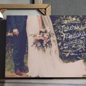 前撮り写真 おしゃれウェルカムボード(5) │結婚式 ウェディング