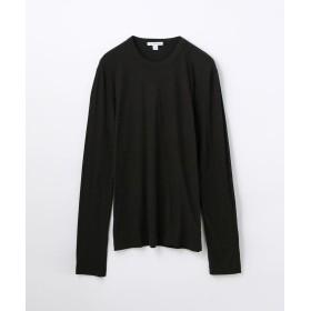 トゥモローランド クルーネック長袖Tシャツ MLJ3351 メンズ ブラック 0(S) 【TOMORROWLAND】