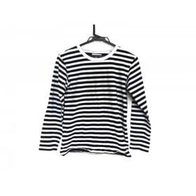 【中古】 アニエスベー agnes b 長袖Tシャツ レディース 白 黒 ボーダー