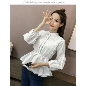 ★夏服 シフォン シャツ トップス かわいい オフィス ストライプ さわやか デート