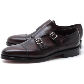 ジョンロブ JOHN LOBB ダブルモンクストラップ シューズ WILLIAM ウィリアム ラスト 9795 革靴 大きいサイズあり ブラウン メンズ