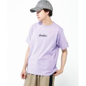 [マルイ]【セール】【VISION ヴィジョン】英字ロゴ刺繍Tシャツ/アドポーション(ADOPOSION)