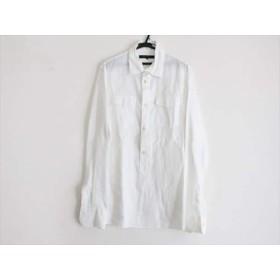 【中古】 デザインワークス 長袖シャツブラウス サイズ50 XL レディース 美品 白 プルオーバー