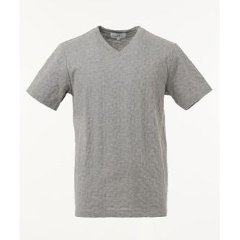 【オンワード】 CK CALVIN KLEIN MEN(CK カルバン・クライン メン) 【定番人気】アメリカンキルティング Tシャツ ライトグレー L メンズ 【送料無料】