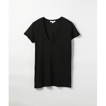 トゥモローランド ベーシック UネックTシャツ WMJ3449 レディース ブラック 1(M) 【TOMORROWLAND】