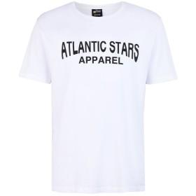 《期間限定 セール開催中》ATLANTIC STARS メンズ T シャツ ホワイト S コットン 100%