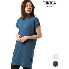 SALE セール レディース ワンピース RIKKA FEMME リッカファム R19S2013 半袖 Tシャツワンピース GG1 D15