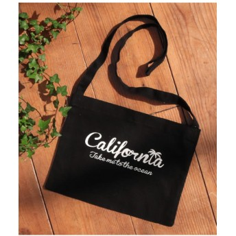 【60%OFF】 アナップ californiaプリントサコッシュ レディース ブラック F 【ANAP】 【タイムセール開催中】