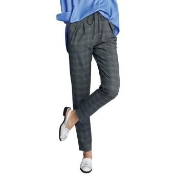 【股下丈68cm】 吸汗速乾 サッカー チェックプリント パンツ 327502
