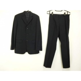【中古】 コムサイズム COMME CA ISM シングルスーツ サイズM メンズ 黒 シングル