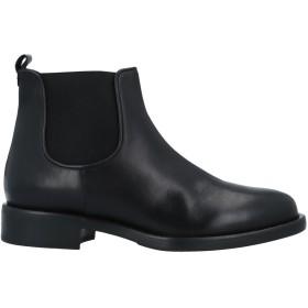 《セール開催中》ALBANO レディース ショートブーツ ブラック 40 牛革(カーフ) / 伸縮繊維