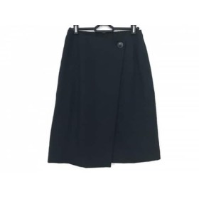 【中古】 ニジュウサンク 23区 スカート サイズ34 S レディース 美品 ダークネイビー