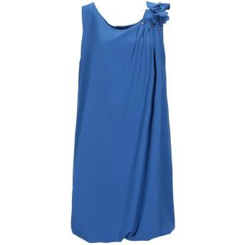 《セール開催中》ALESSANDRO DELL'ACQUA レディース ミニワンピース&ドレス ブルー 44 ポリエステル 97% / ポリウレタン 3%