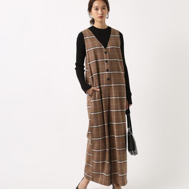 その他ワンピース・ドレス - AZUL BY MOUSSY オーバーチェックオールインワン
