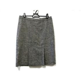【中古】 アニエスベー agnes b スカート サイズ40 M レディース 美品 アイボリー 黒