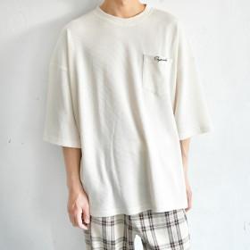 カットソー - pairpair【MEN】 【リンクコーデ専門ブランド/ペアペア】サーマルロゴ刺繍オーバーT(メンズ)