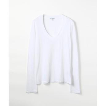 トゥモローランド ベーシック Vネック長袖Tシャツ WMJ3931 レディース ホワイト 1(M) 【TOMORROWLAND】
