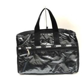 【中古】 レスポートサック LESPORTSAC ハンドバッグ 美品 ダークグレー 黒 化学繊維