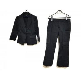 【中古】 リフレクト ReFLEcT レディースパンツスーツ サイズ9 M レディース 黒 ストライプ