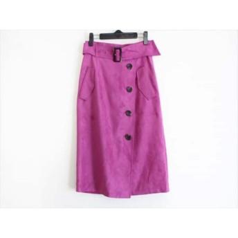 【中古】 ジャスグリッティー JUSGLITTY スカート サイズ2 M レディース ピンク