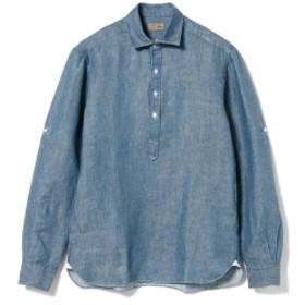 BARBA / DANDY LIFE リネン シャンブレ― プルオーバーシャツ メンズ カジュアルシャツ INDIGO S