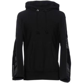 《セール開催中》JUNYA WATANABE メンズ スウェットシャツ ブラック M コットン 100% / ポリエステル