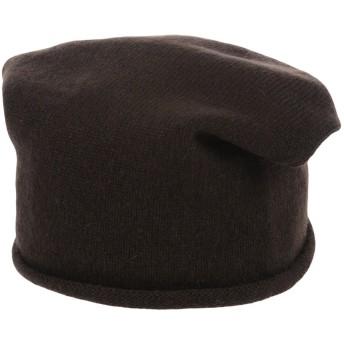 《期間限定セール開催中!》MOSAIQUE レディース 帽子 ダークブラウン one size カシミヤ 100%