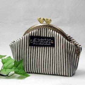 10.5cmハートの口金・がま口財布・小物入れに!内布にもこだわって可愛いいアリス!手作りチャームプレゼント!
