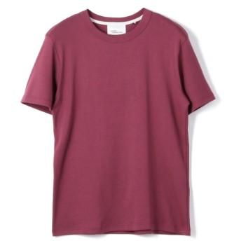 MAISON CORNICHON / 1X1 RIB クルーネックカットソー レッド/SMALL(エストネーション)◆メンズ Tシャツ/カットソー