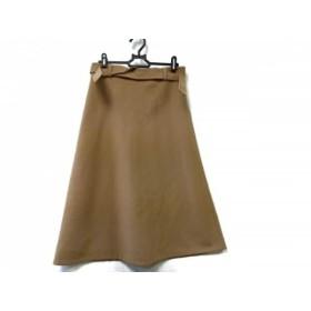 【中古】 トゥモローランド ロングスカート サイズ36 S レディース 新品同様 ライトブラウン collecion