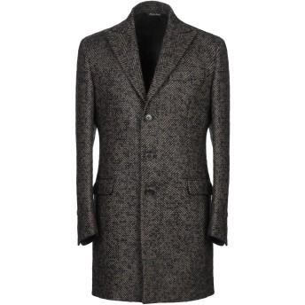 《9/20まで! 限定セール開催中》BRIAN DALES メンズ コート ブラック 46 ウール 83% / モヘヤ 16% / ナイロン 1%