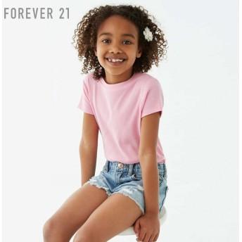 FOREVER21 フォーエバー21 【[KIDS]リブラウンドネックTシャツ】(5,000円以上購入で送料無料)