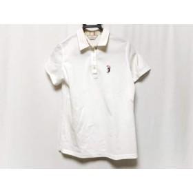 【中古】 アダバット Adabat 半袖ポロシャツ サイズ40 M レディース 白 ピンク マルチ