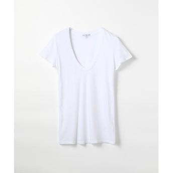 トゥモローランド ベーシック UネックTシャツ WMJ3449 レディース ホワイト 2(L) 【TOMORROWLAND】