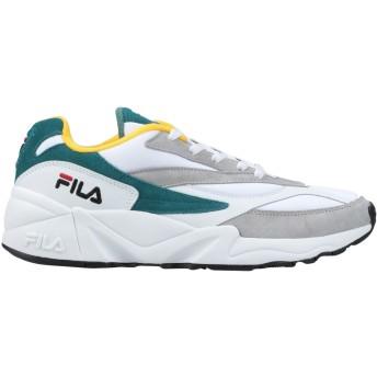 《セール開催中》FILA メンズ スニーカー&テニスシューズ(ローカット) ホワイト 40 革 / 紡績繊維 V94M low