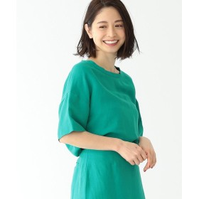 【30%OFF】 ビームス アウトレット Demi Luxe BEAMS / バックサテン Tブラウス レディース GREEN ONESIZE 【BEAMS OUTLET】 【セール開催中】
