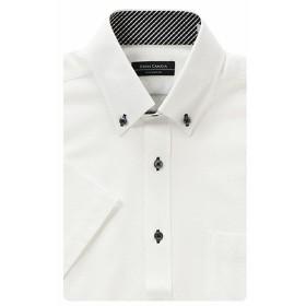 ノンアイロン半袖ニットドレスシャツ(メンズ) シロ