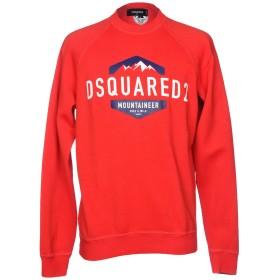 《期間限定セール中》DSQUARED2 メンズ スウェットシャツ レッド L コットン 100%