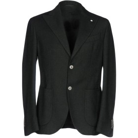 《期間限定 セール開催中》L.B.M. 1911 メンズ テーラードジャケット ダークグリーン 46 コットン 45% / ウール 40% / ナイロン 15%