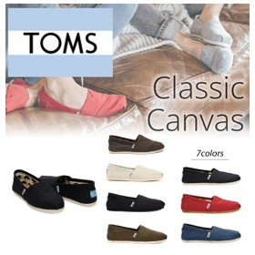 【TOMS】新作!毎年人気のクラシックタイプ Classic Canvas クラシックキャンバス レディース シューズ スリッポン