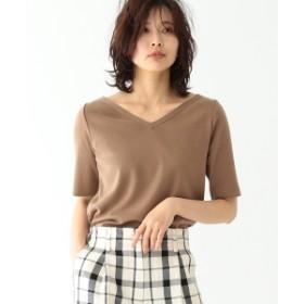 EFFE BEAMS / コットンニット Tシャツ レディース ニット・セーター BROWN ONE SIZE