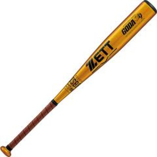 (送料無料)ZETT(ゼット)野球 少年軟式メタルバッド JR.ナンシキアルミバット GODA-Z9  BAT77926-8200 ゴールド8200