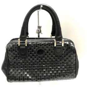 【中古】 フェンディ FENDI ハンドバッグ - - 黒 編み込み/ミニバッグ レザー